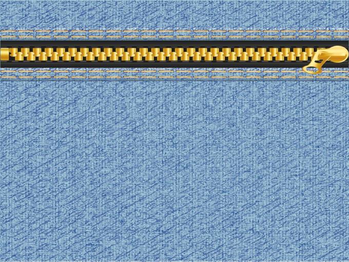 Denim Zipper Design PPT Backgrounds