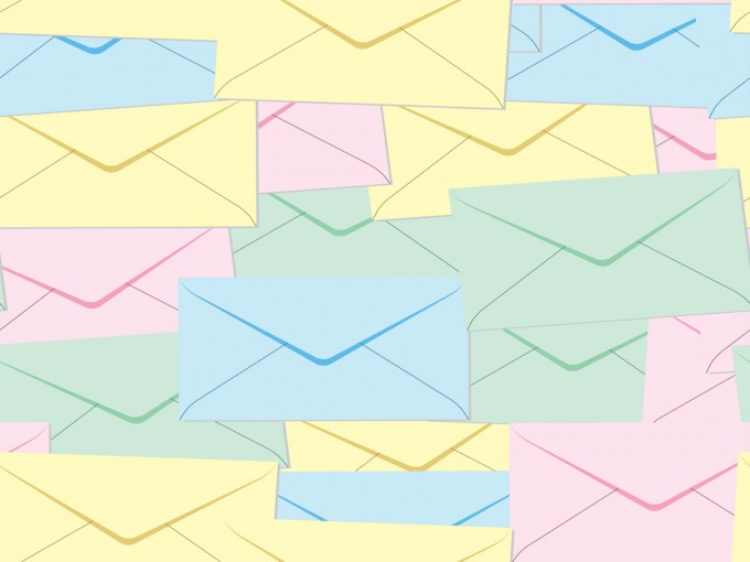 Email and Letter Post it PPT Backgrounds