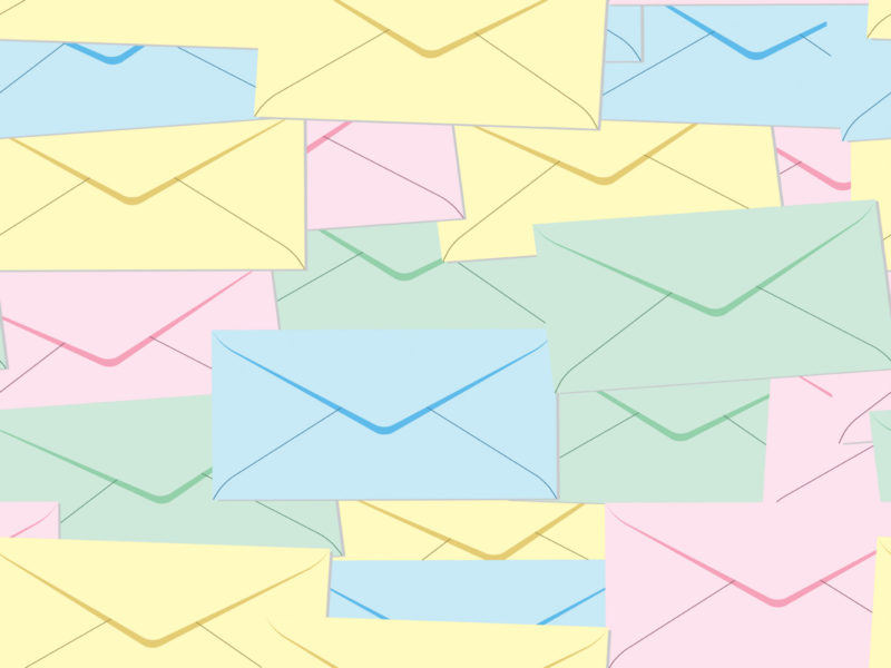 Email and Letter Post it Backgrounds - Technology - PPT Backgrounds