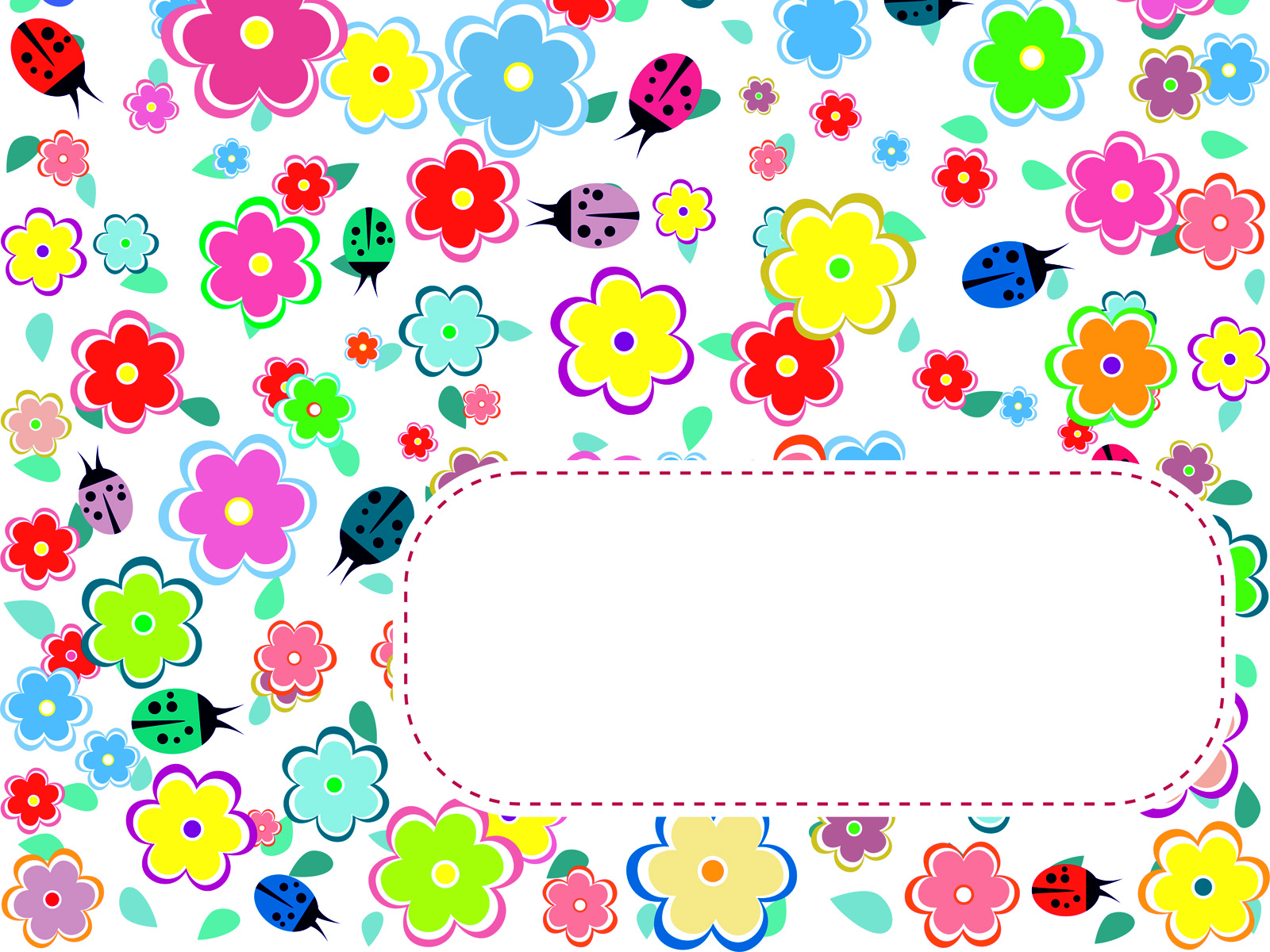 flowers and ladybirds ppt backgrounds - design, flowers templates, Modern powerpoint