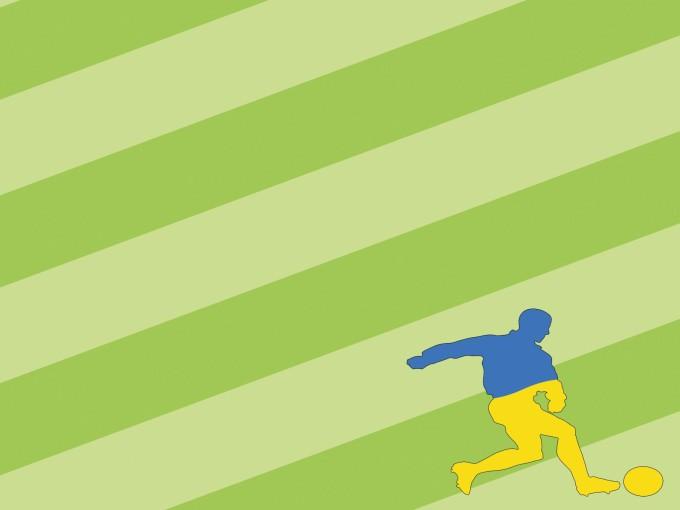 Football Sports Soccer Man PPT Backgrounds