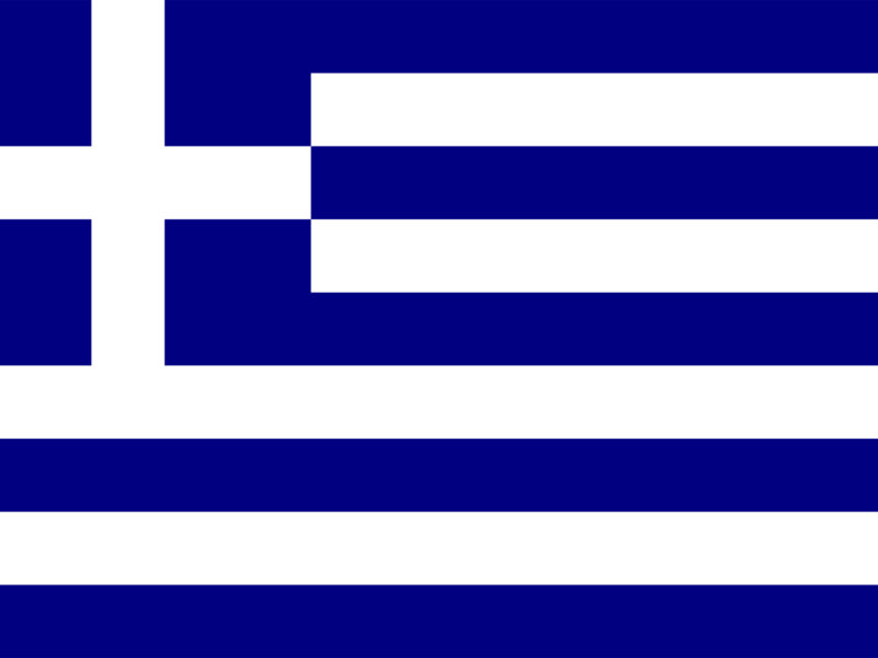Greece Flag PPT Background