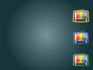 Online TV (Television) Powerpoint Backgrounds