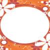 Orange Flower Frames Design
