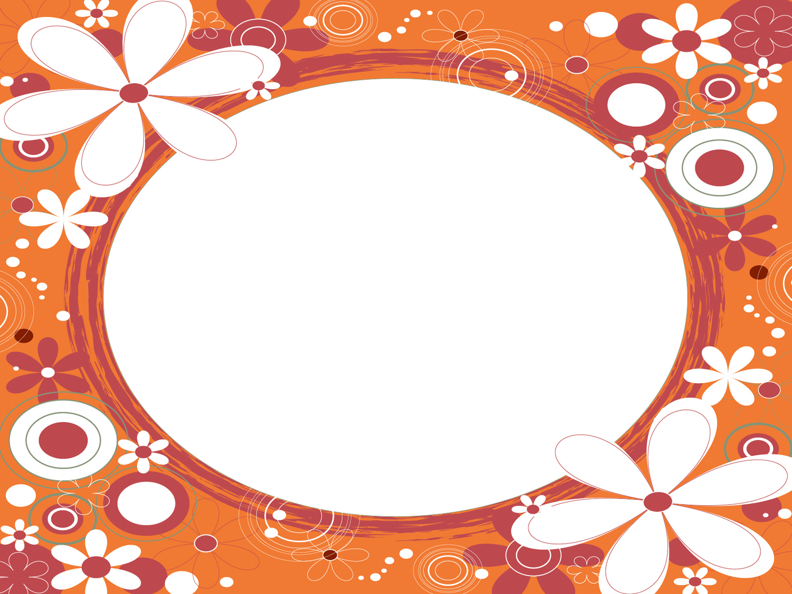 Orange Flower Frames Design