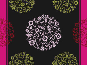 Pink Floral Ornaments Slide Design Backgrounds