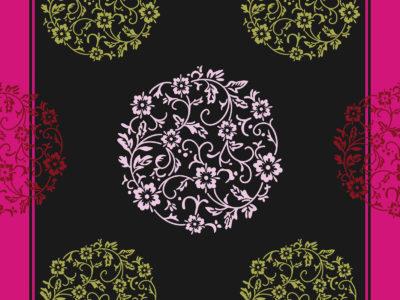 Pink Floral Ornaments Slide Design Backgrounds