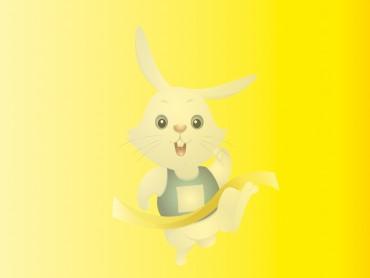 Playboy Rabbit on Yellow