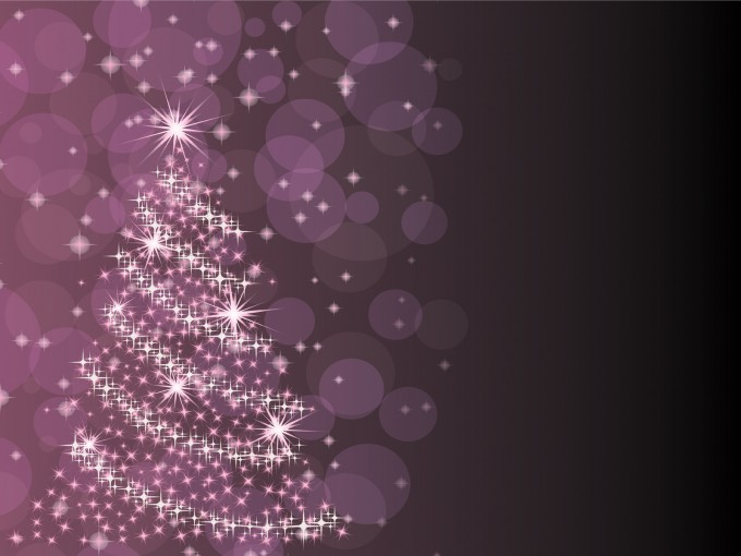 Purple Christmas Tree Powerpoint PPT Backgrounds