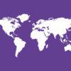 Purple World Maps Backgrounds