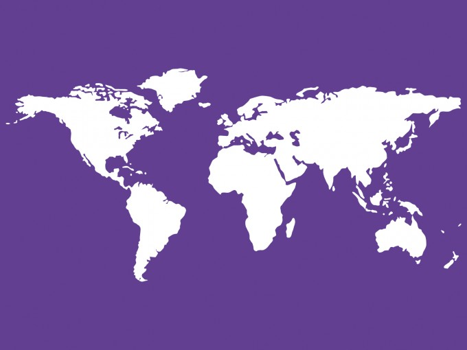 Purple World Maps PPT Backgrounds