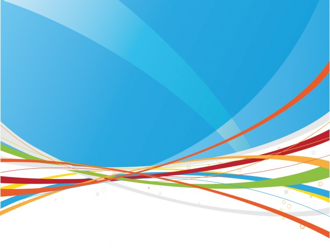 Rainbow Lines for Powerpoint Templates PPT Backgrounds