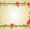 Red rose flower frame ppt backgrounds