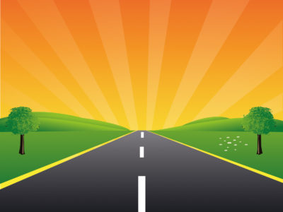 Road to The Peace for Powerpoint Template