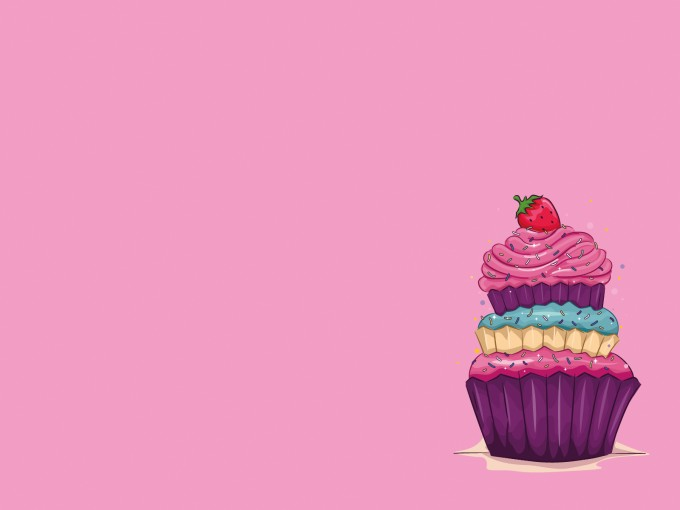 Strawberry and Cake Powerpoint Template PPT Backgrounds