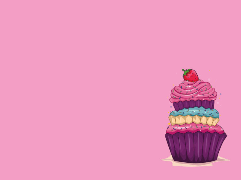 Strawberry and Cake PPT Backgrounds Template