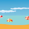 Summer Beach and Balls Backgrounds PPT
