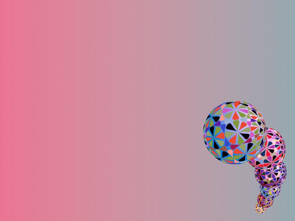 Baubles Clip Arts Backgrounds 3d Pink Purple Ppt