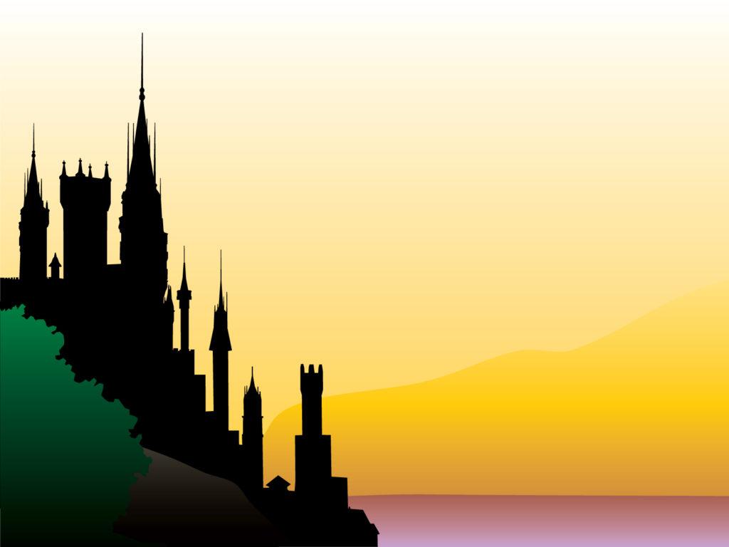 castle design backgrounds - design, travel - ppt backgrounds