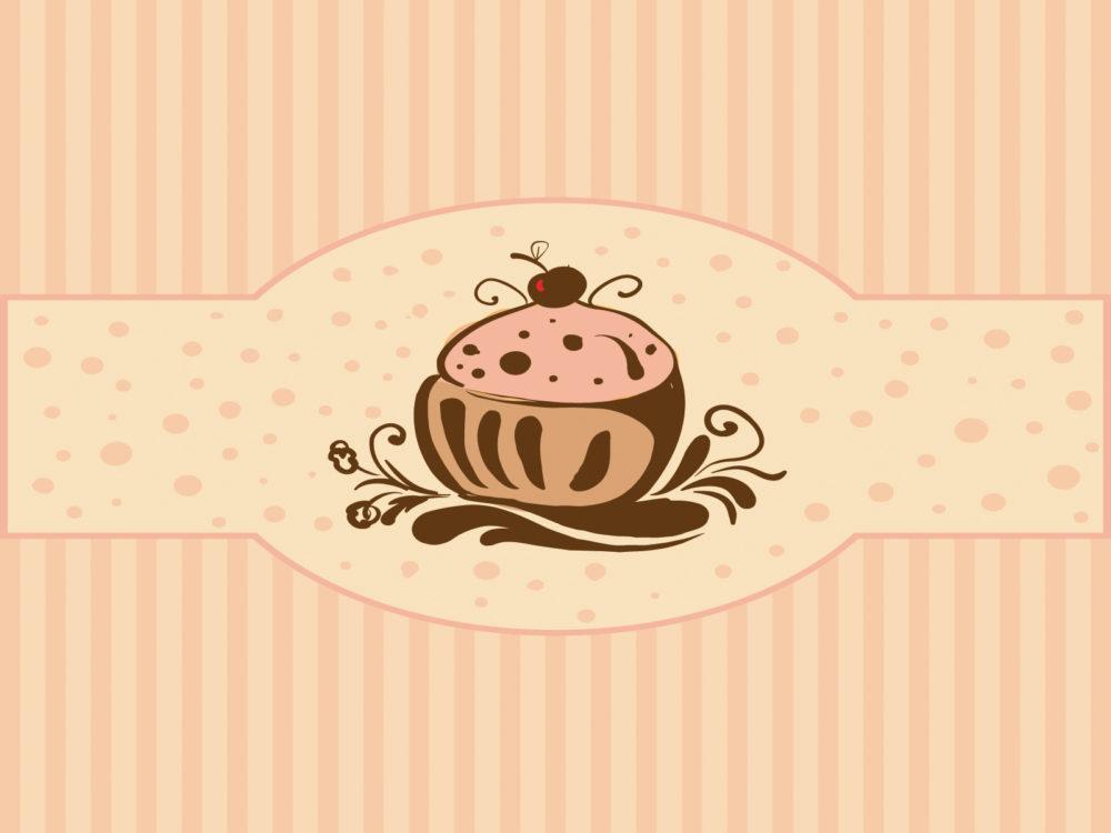 cupcakes for foods backgrounds border frames foods drinks ppt backgrounds. Black Bedroom Furniture Sets. Home Design Ideas