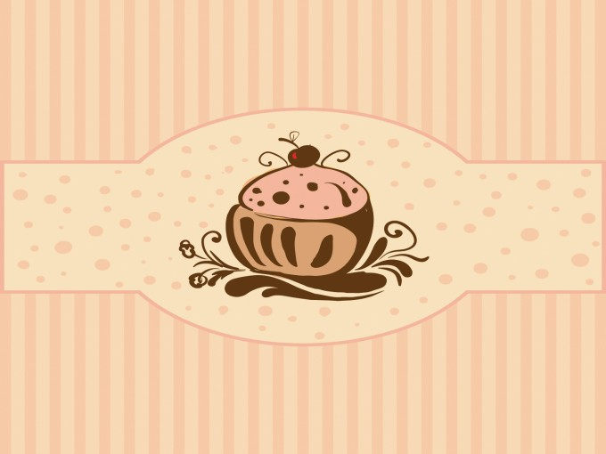 Cupcakes for Foods PPT Backgrounds