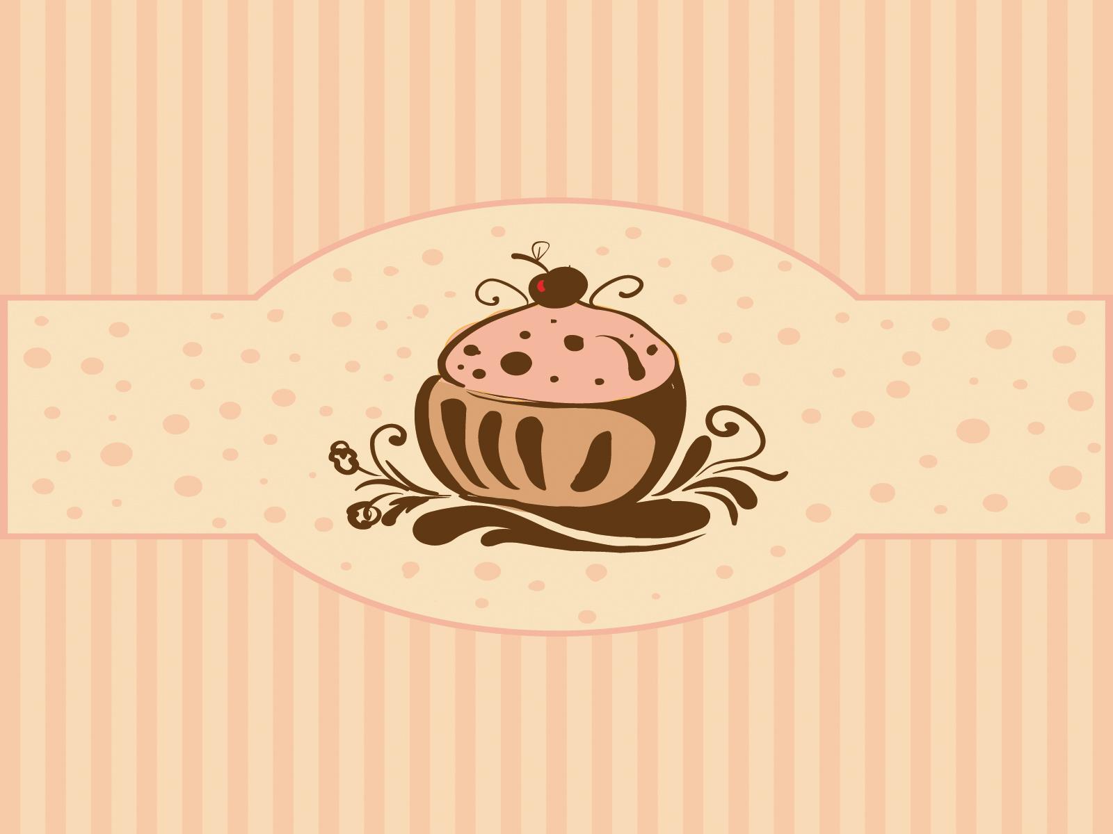 Cupcakes For Foods Ppt Backgrounds Border Amp Frames
