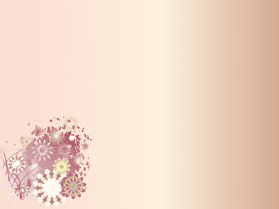 Cute Floral Corner Powerpoint Backgrounds