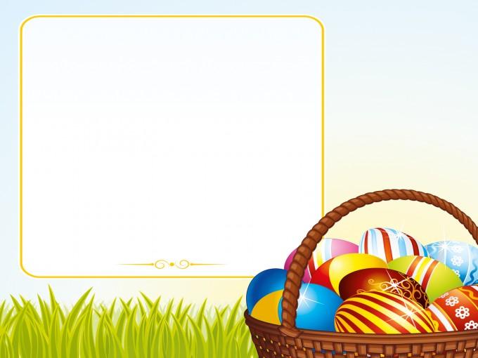 Egg Basket Design PPT Backgrounds