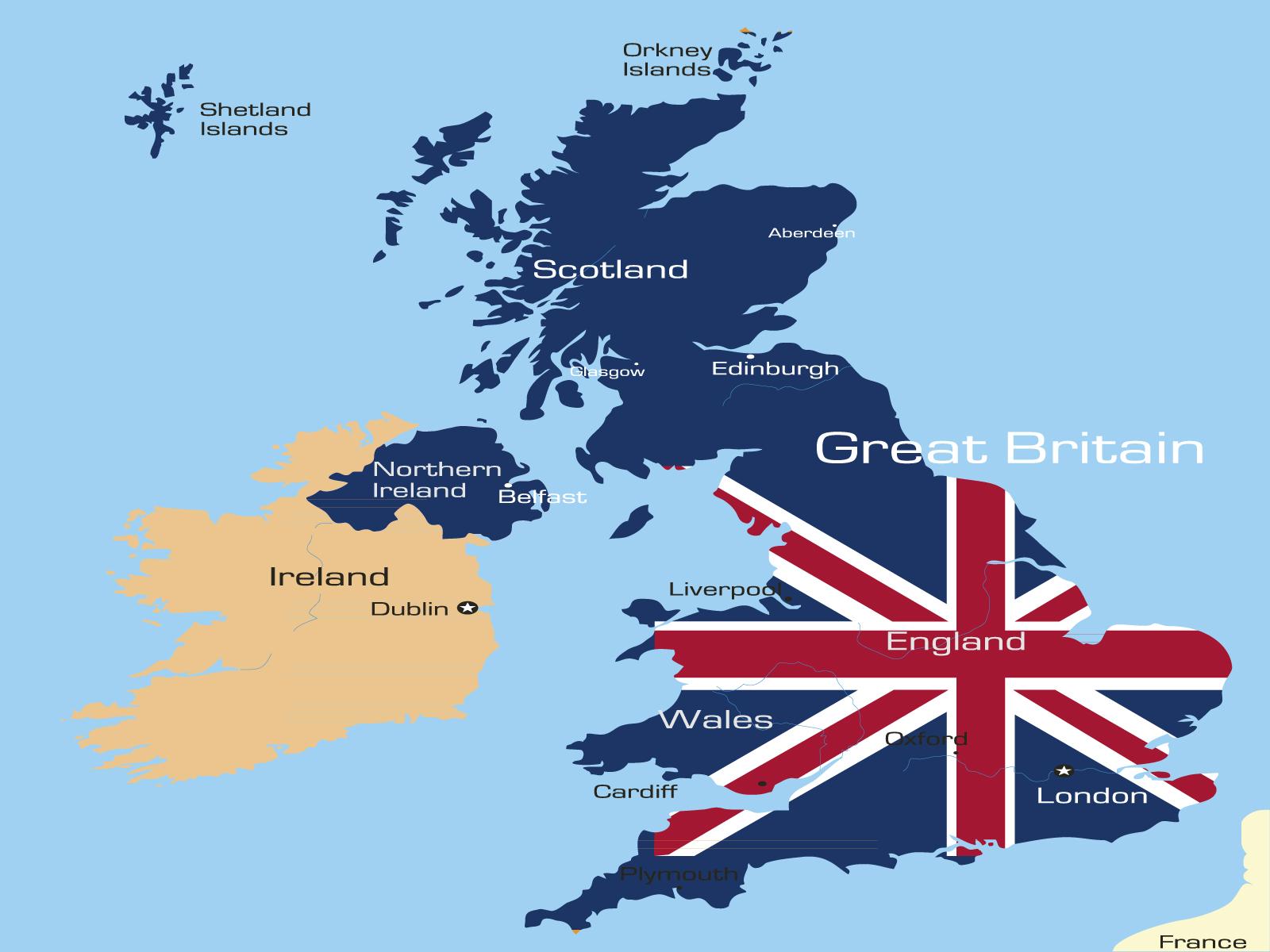 3096 England Map Ppt Design Backgrounds on Navy Border
