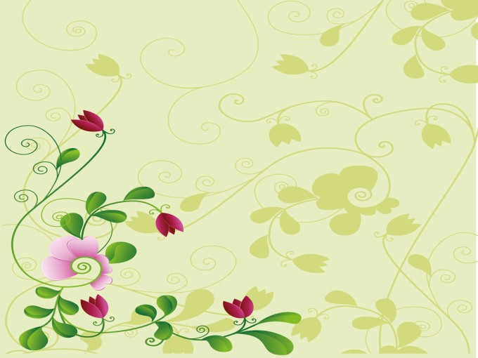 Flower and Shadow PPT Backgrounds