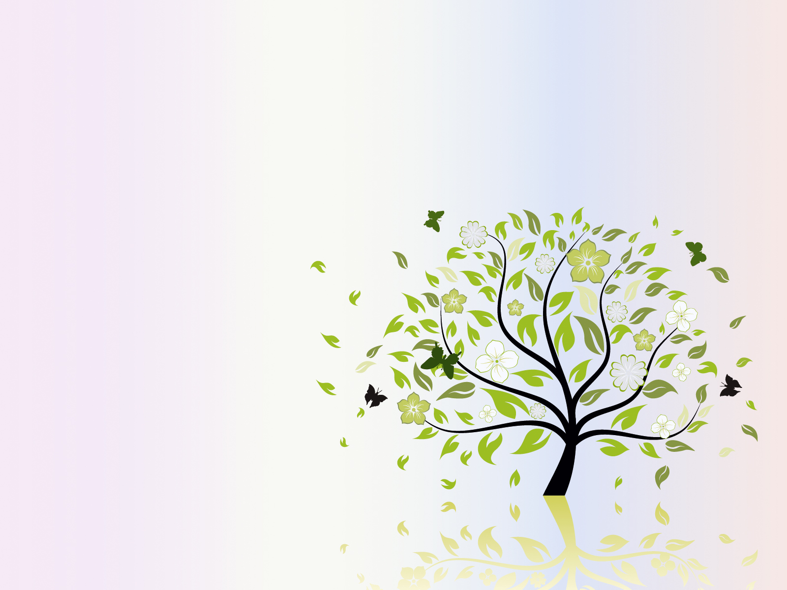 Folio Tree Nature ppt Backgrounds