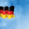 German flag on Sky PPT Art Design