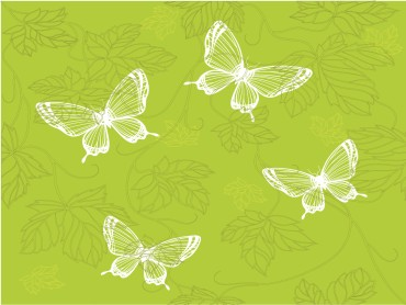 Green Butterfly Powerpoint Template