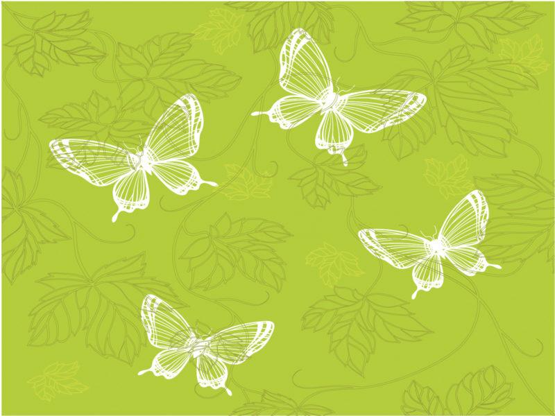 Green Butterfly Powerpoint Template