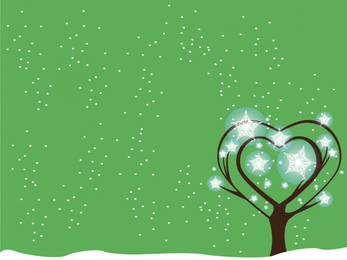 Green Tree Snow Powerpoint PPT Backgrounds