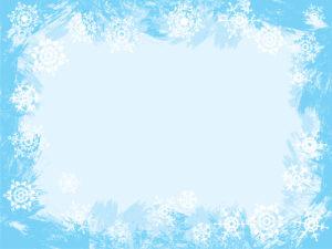 Light Blue Snowflake Frame Design Backgrounds