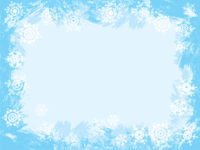 Light Blue Snowflake Frame Design Backgrounds