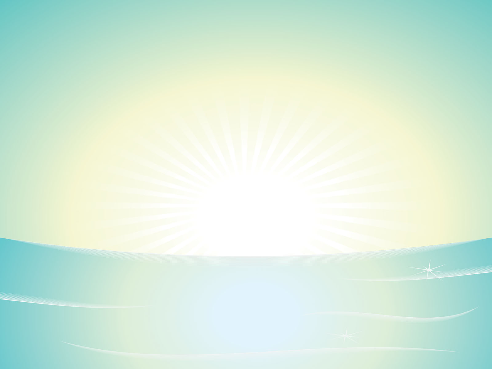 Light Sunshine PPT Backgrounds