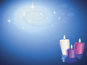Lit Christian Candles PPT Backgrounds