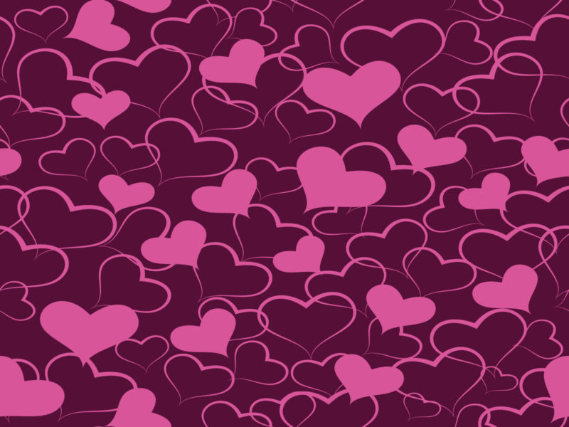 Pink and Purple Love Slide Backgrounds