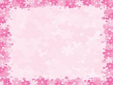 Pink floral frames