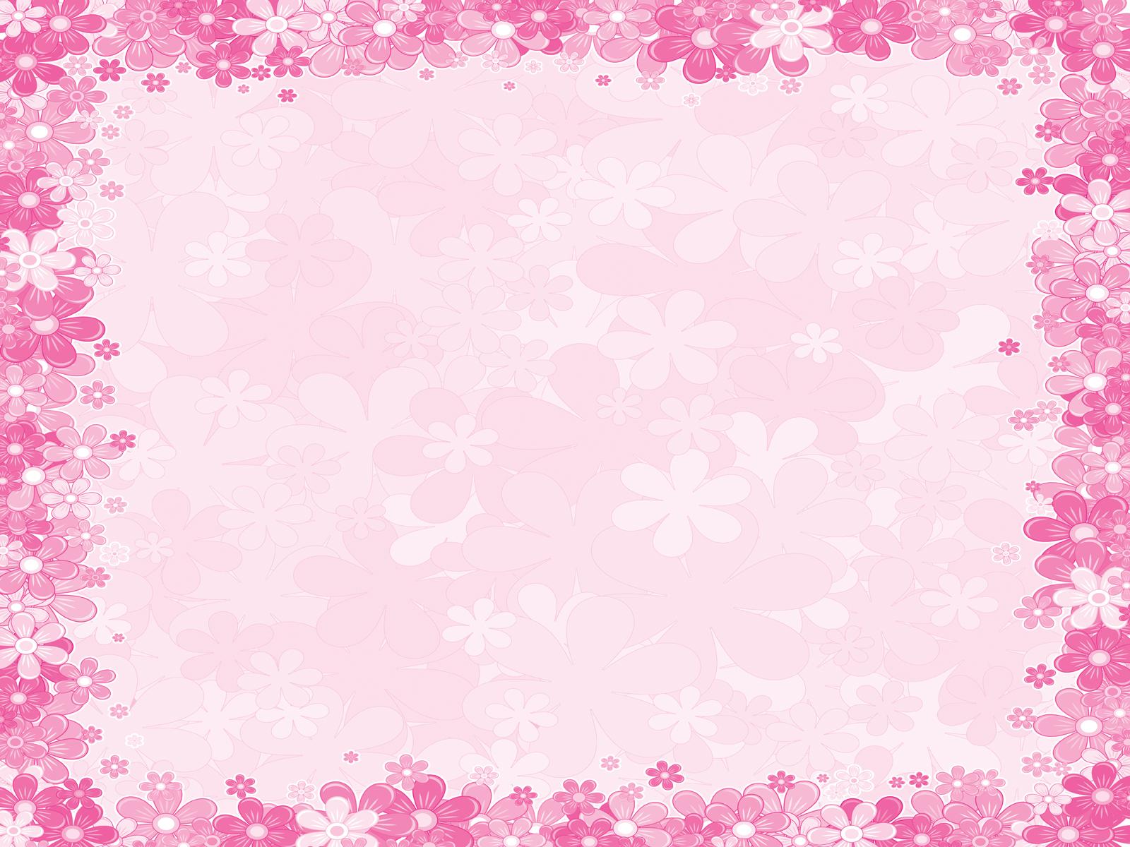 Pink floral frames backgrounds