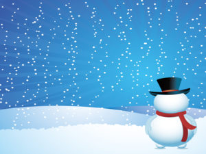 Snow man on Christmas Backgrounds