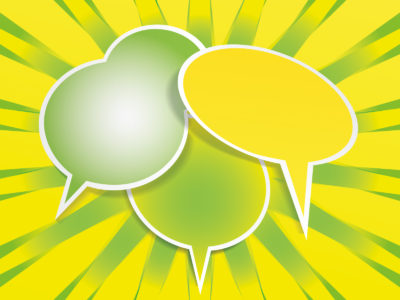 Speech Balloon Powerpoint Backgrounds