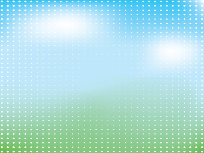 White dots on Green PPT Backgrounds