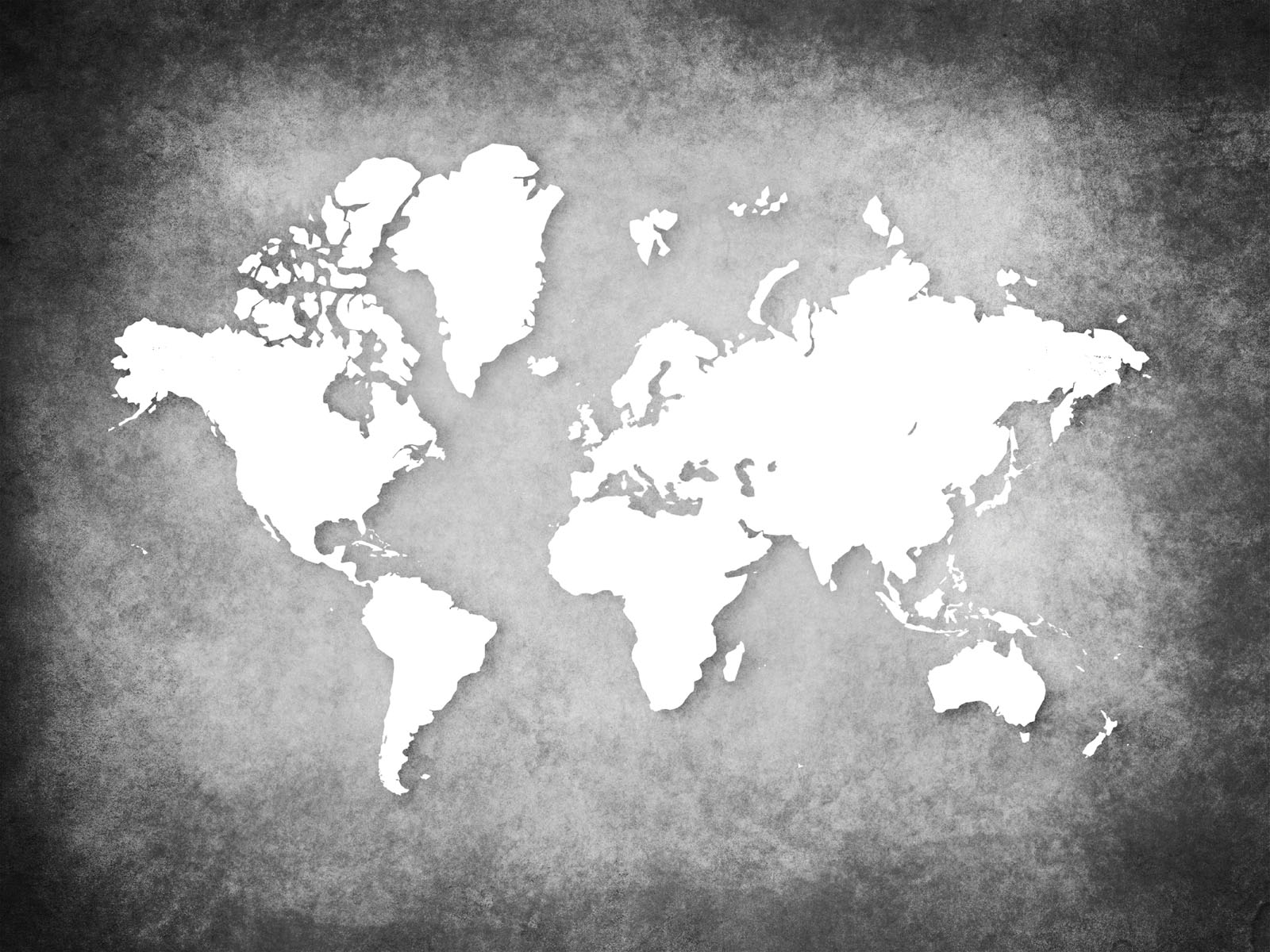 World map on wall ppt clipart