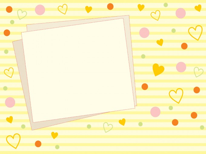 Cute Yellow Photo Frames PPT Backgrounds