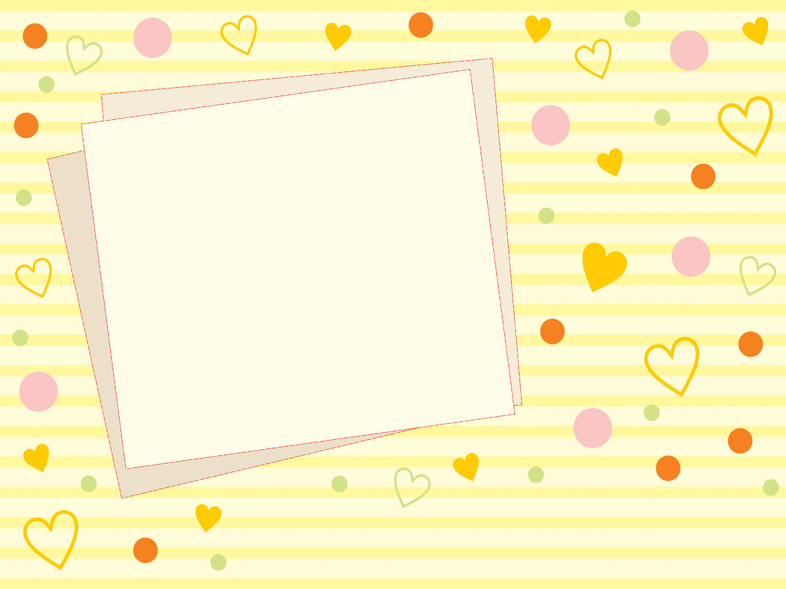 Cute Yellow Photo Frames Ppt Backgrounds Border Amp Frames