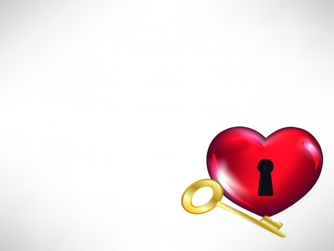 Heart and key for Love PPT Backgrounds