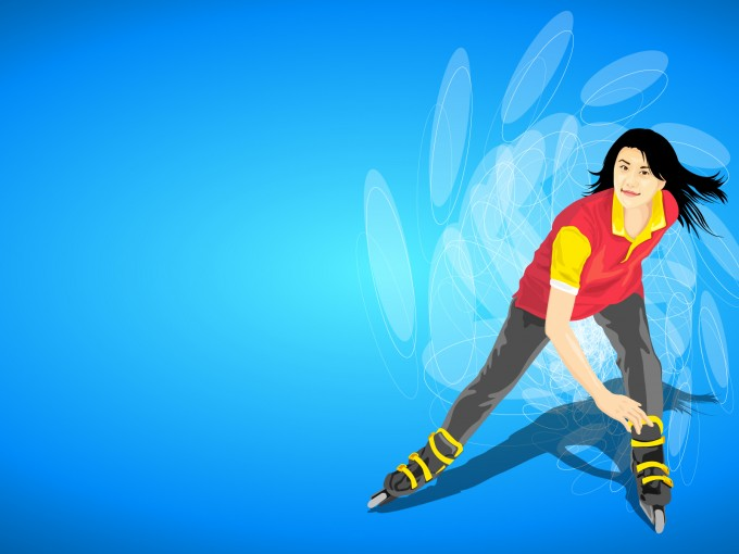 Ice Skating Powerpoint Template PPT Backgrounds